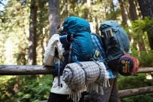backpackers hiking