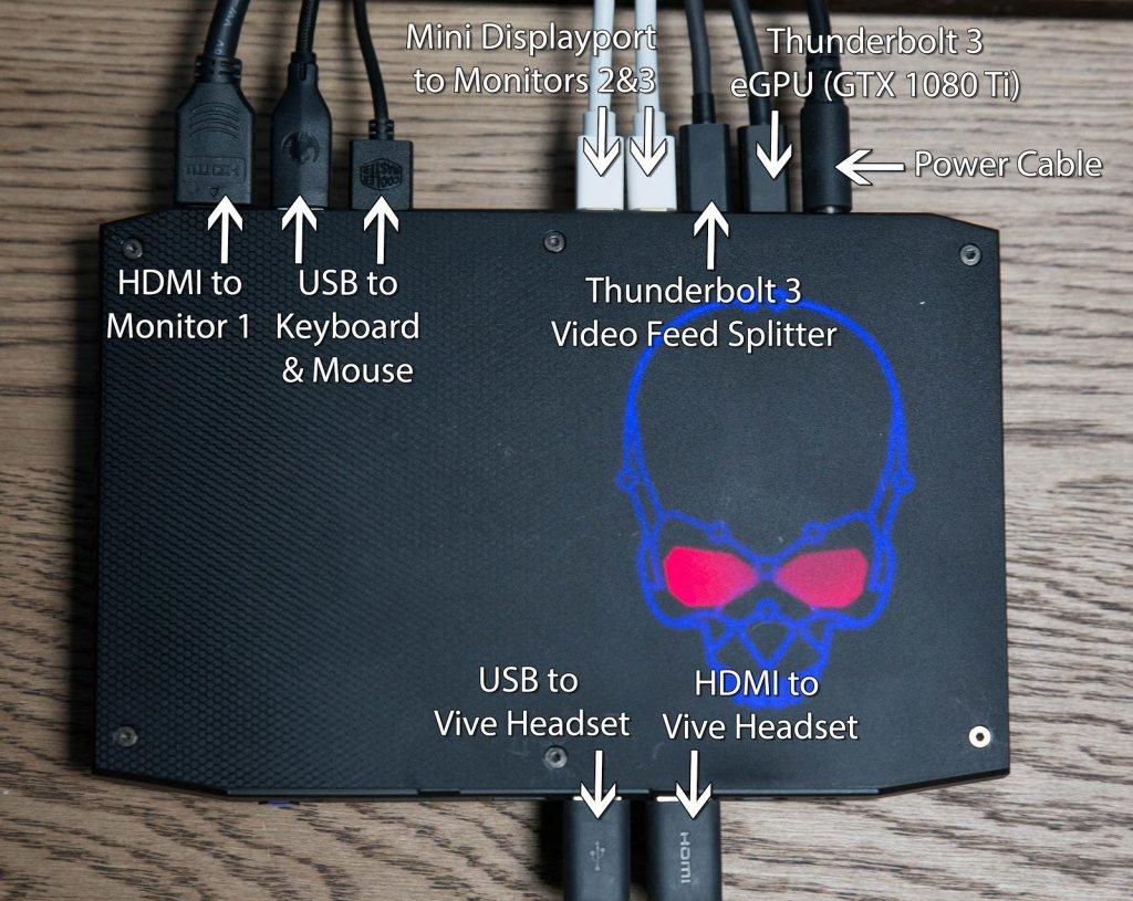 hight resolution of intel hades canyon multiple monitors thunderbolt 3 newegg 9
