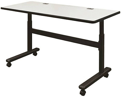 Adjustable height flipper table