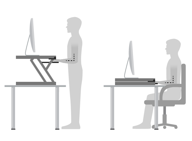 standing desk positioning
