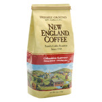 Packaging image for New England Coffee's Colombian Supremo flavored coffee