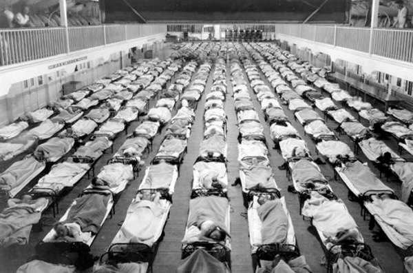 Image result for people dying of Spanish flu