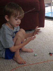 playing marbles counting