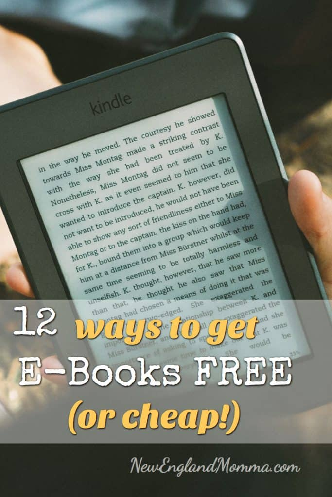 12 ways to get e-Books Free or cheap