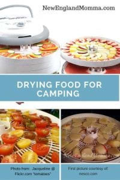 dehydrating foods for camping