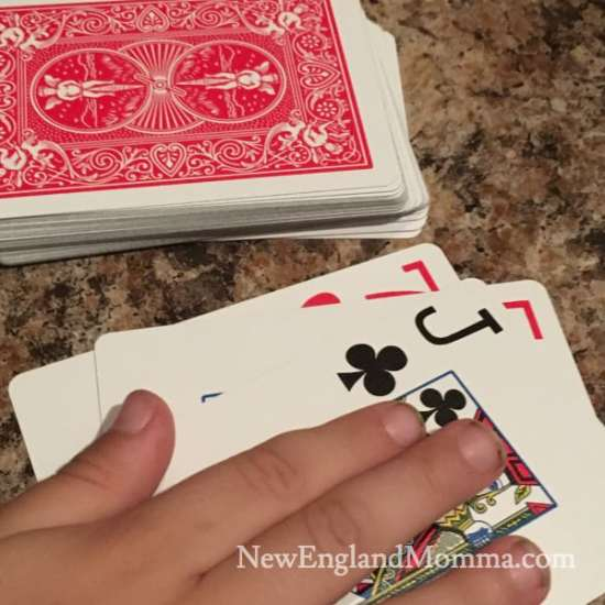 Pick up a deck of cards and play any of these 6 games with your kids. Sure to be a hit! SlapJack is always a favorite.