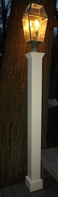 Outdoor Lantern Posts from New England Woodworks