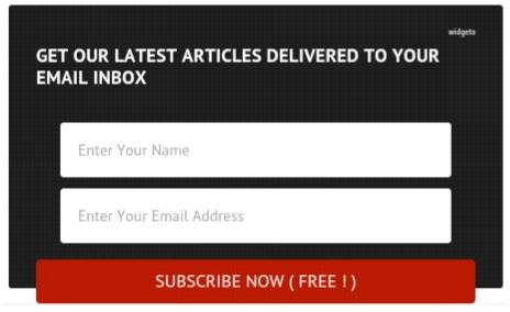Email subscribe box newfeatureblog