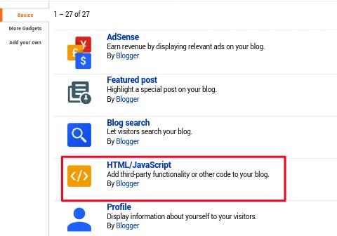 click on html/javascript