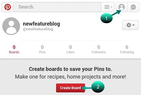 click on create board