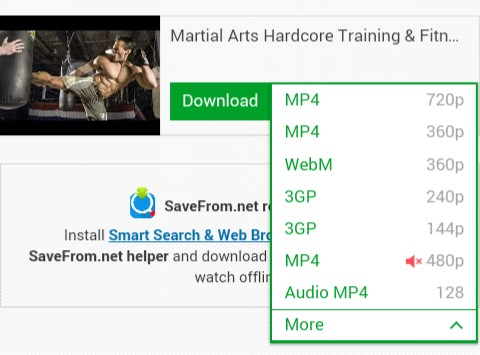 select video quality format and click on download button
