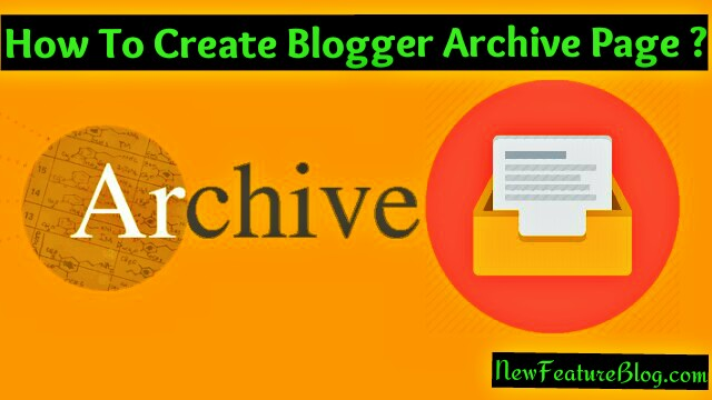 blogger archive ya sitemap page kaise banaye
