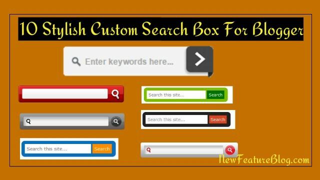 8 Stylish Custom Search Box को Blog में कैसे Add करे