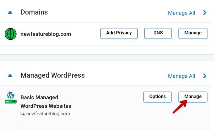 select basic managed wordpress websites