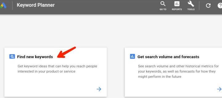 find new keywords in google keyword planner