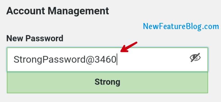 generate strong password in wordpress