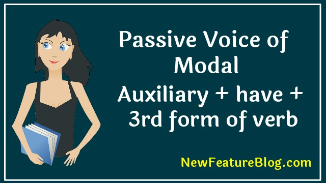 passive voice of past modals