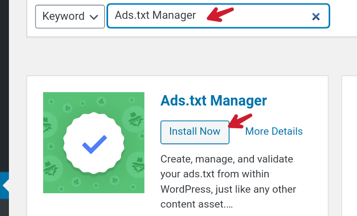 install ads.txt manager plugin