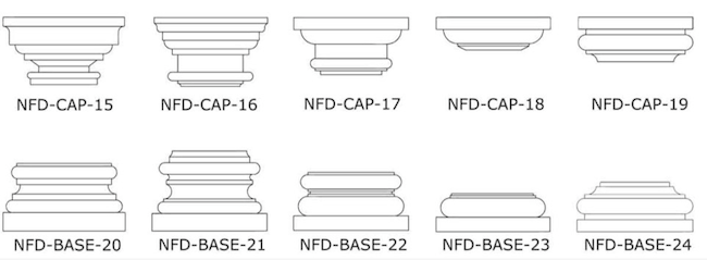 Foam Columns Caps and Bases