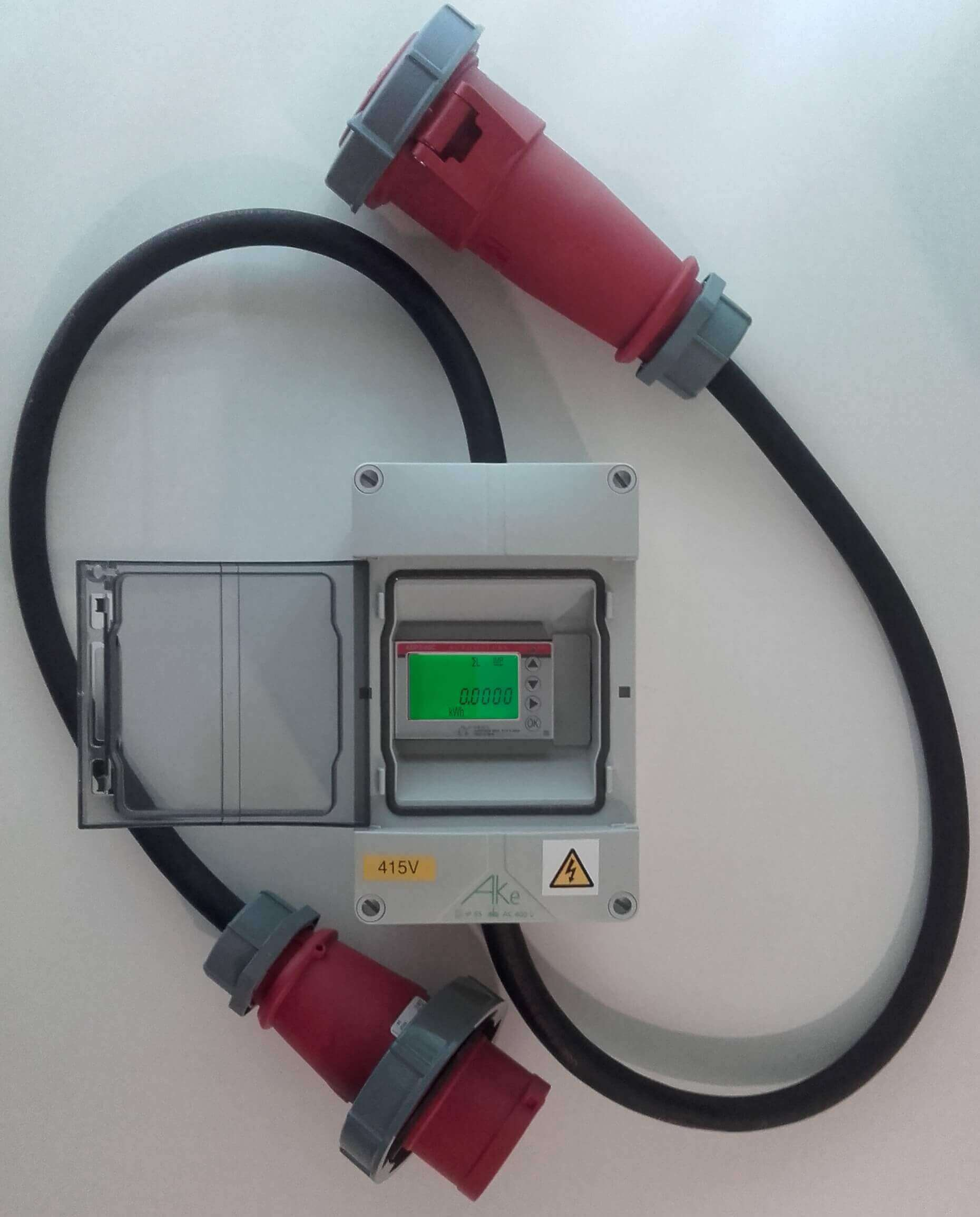 hight resolution of in line 3 phase electricity meter