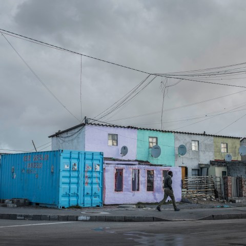 20 August 2018: Unofficial electrical connections in Marikana, Cape Town.