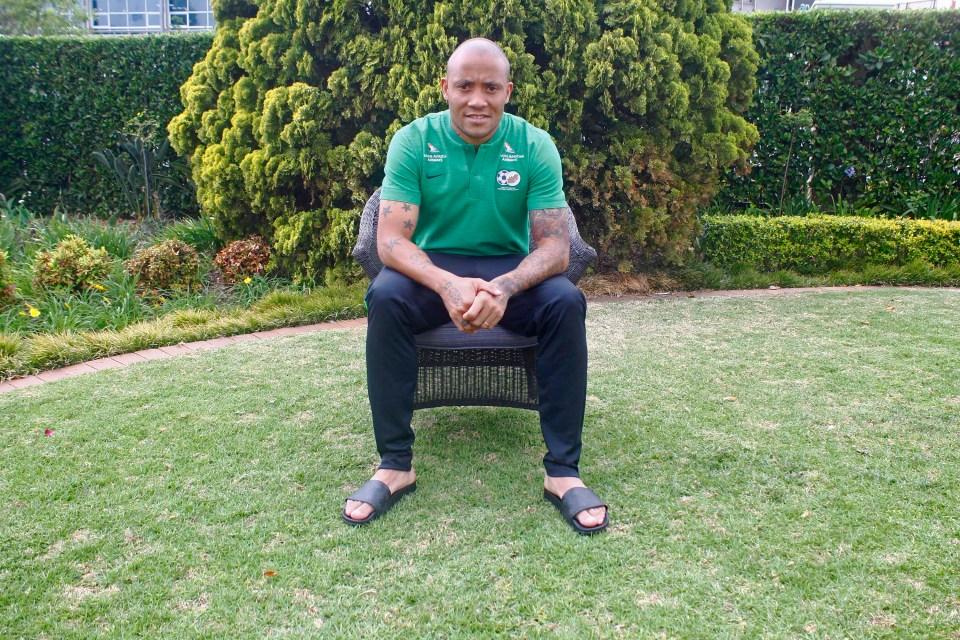 10 October 2018: Bafana Bafana player Dino Ndlovu at the Southern Sun hotel in Sandton.