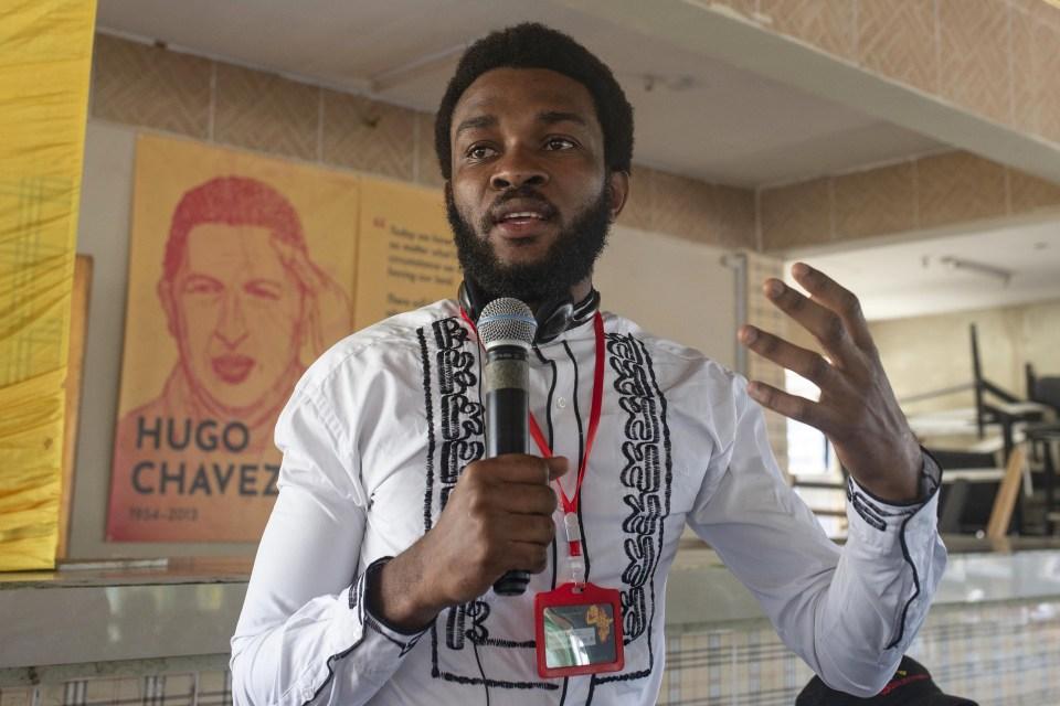 21 September 2018: Jean-Marie Kalonji, an activist with the youth movement Quatrieme Voie in Winneba, Ghana.