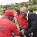 18 May 2018: Abahlali baseMjondolo president Sibusiso Zikode at the eKukhanyeni land occupation near Mariannhill in KwaZulu-Natal.