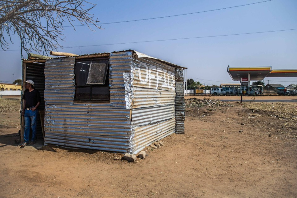 22 August 2018: The office at the Shellview occupation in Soshanguve