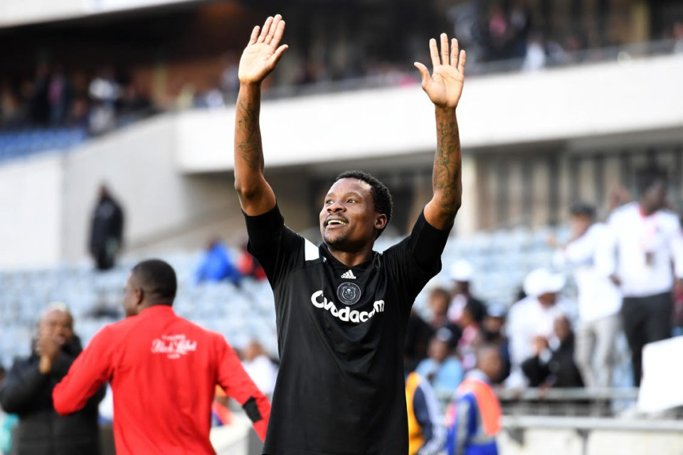 Thamsanqa Gabuza after missing a golden opportunity during the Premiership match between Orlando Pirates and AmaZulu FC at Orlando Stadium on December 09, 2017 in Johannesburg.(Photo by Lefty Shivambu/Gallo)