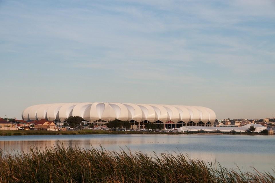 Nelson Mandela Bay stadium in Port Elizabeth, South Africa. Photo by Gallo Images/Rainer Schimpf