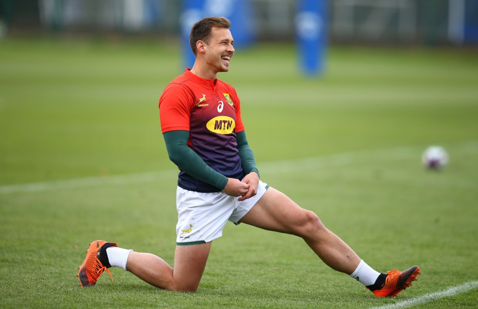 30 October 2018: Ivan van Zyl during the Springboks training session at Latymer Lower School in London, England. Van Zyl, with three Test caps, will start at No. 9 on Saturday against the English. (Photograph by Steve Haag/Gallo Images)