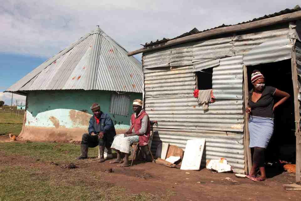 25 April 2019: Jack Gemetana, 65, Nomathemba Ndlwayivulwa, 55, and Busisiwe Ndlwayivulwa, 28, live opposite the home of UDM leader Bantu Holomisa in Mqanduli.