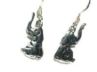 Sterling Silver Sitting Elephant Earrings