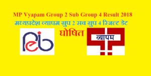 mp vyapam group 2 sub group 4 result 2018