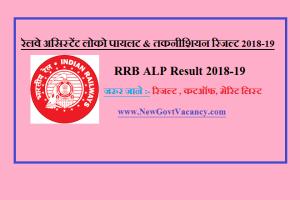 RRB chandigarh ALP Result 2018