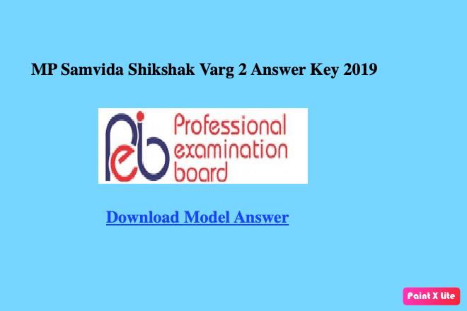 mp samvida shikshak varg 2 answer key