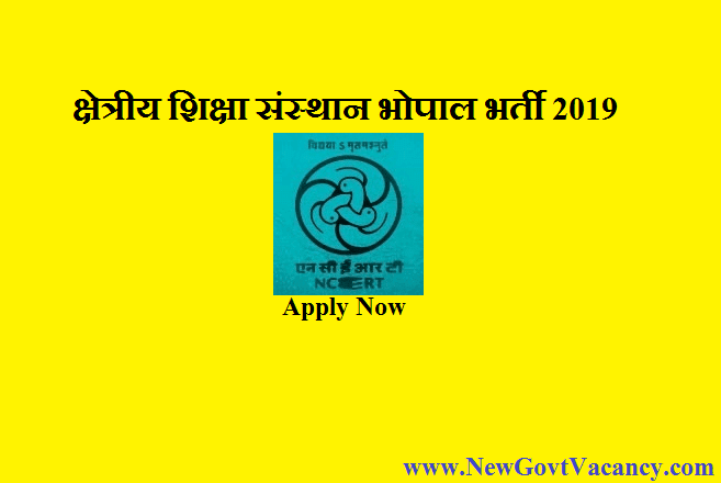 RIE Bhopal Recruitment 2019