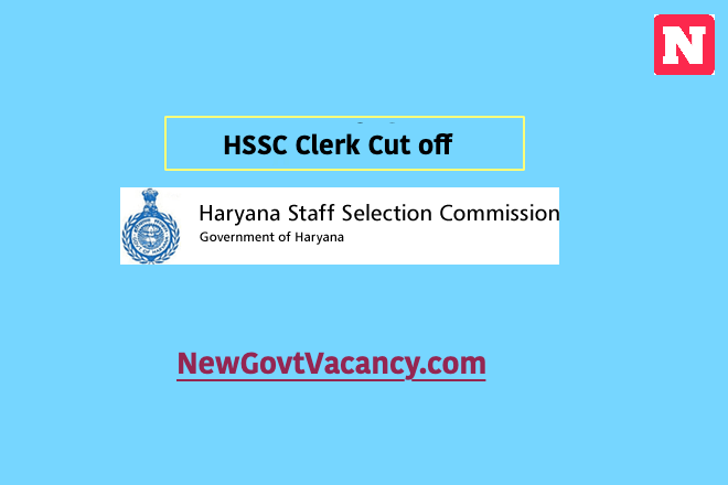 HSSC Clerk Cut off 2019