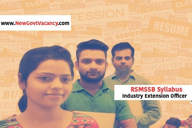 RSMSSB Industry Extension Officer Syllabus