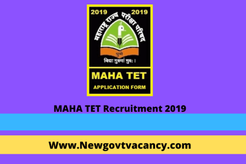 MAHA TET Recruitment 2019