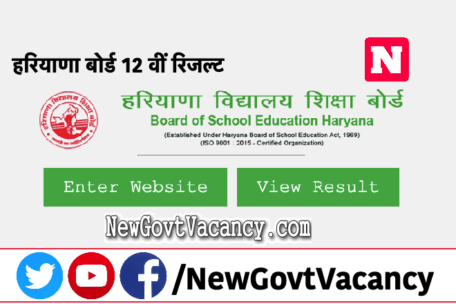 Haryana board 12th Result 2020