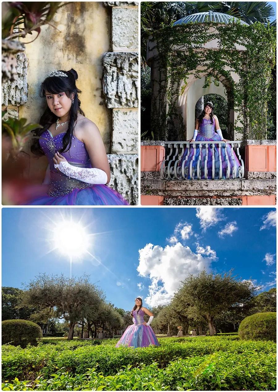 Quinceanera  Krishas Sweet 15  Vizcaya Museum and Gardens  Naples Florida Wedding  Portrait