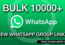 Bulk 10000+ New Whatsapp Groups Link