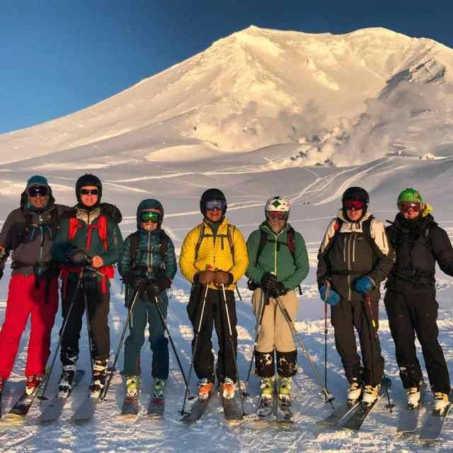 Skiing Mount Asahi on the island of Hokkaido, Japan with Synnott Mountain Guides.