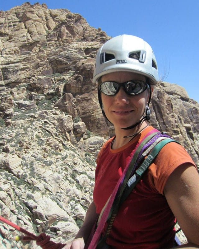 Sara Reeder - New Hampshire climbing, skiing, and mountaineering guide.