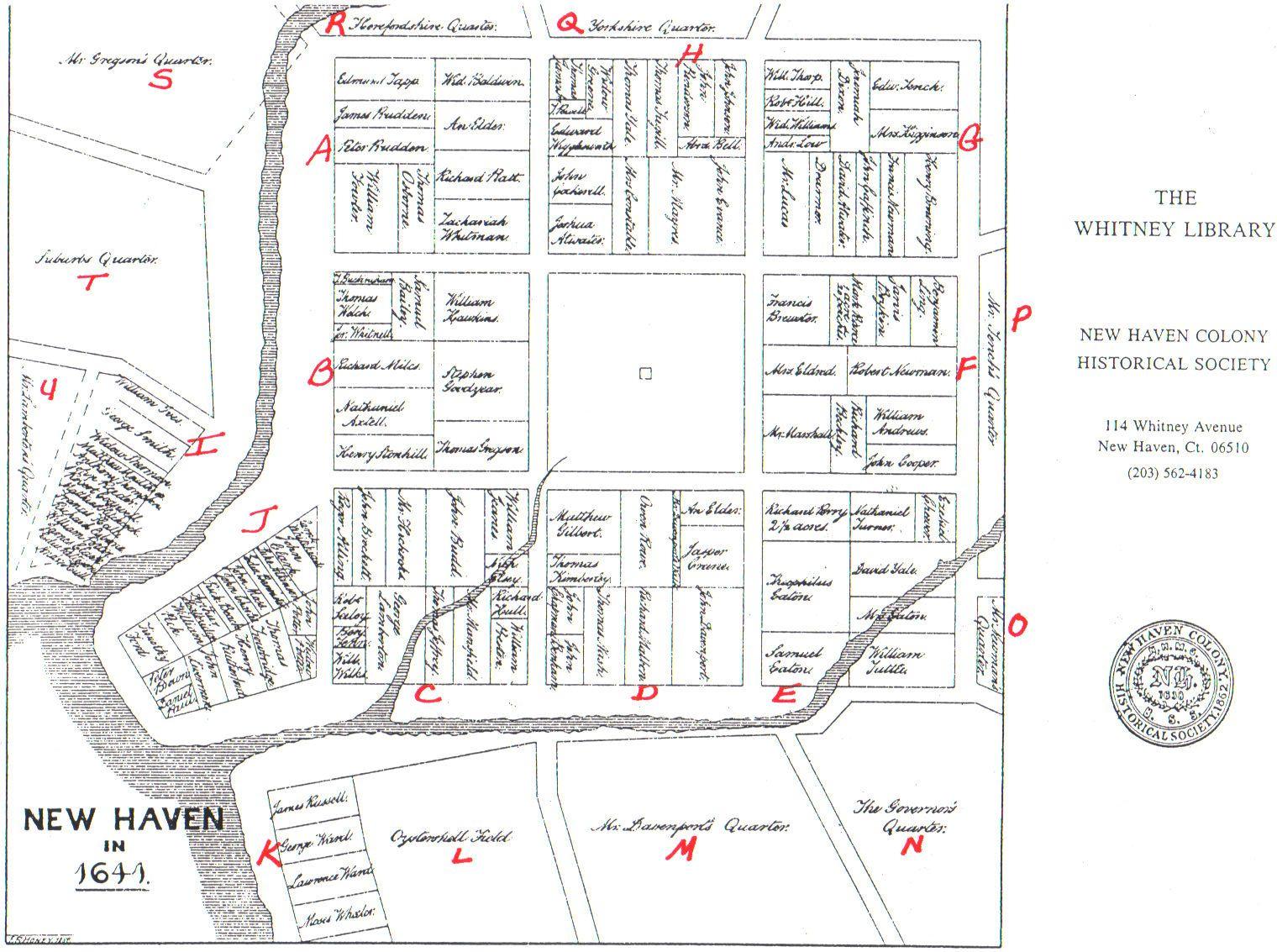 New Haven Museum » Brockett Map of 1641
