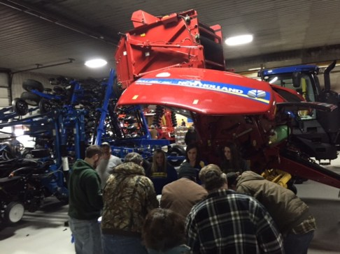 The new NH 340S big square baler was on hand for display