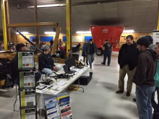 Precision Drone representatives were on hand to display their new drone products available at our Ag Technologies location