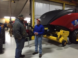 Harvest Tec representatives were on hand to discuss their quality baler applicators and hay preservative